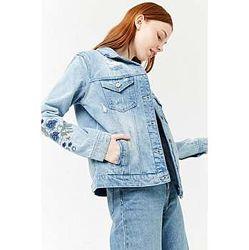 Джинсовый пиджак жакет с вышивкой forever 21, размер с