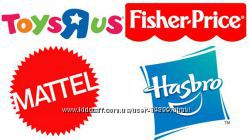 ToysRUs    Mattel , Fisher Price, Hasbro.