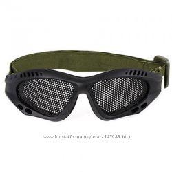 Тактические очки с сеткой Airsoft Wargame для велосипеда, страйкбола