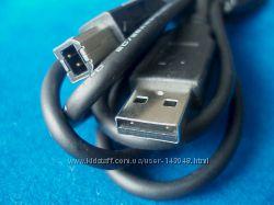 Кабель USB AM-BM, 1. 8м, черный, для принтера, сканера