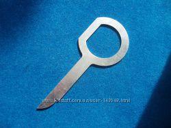 Ключ съемник для демонтажа автомагнитолы