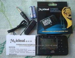 MT560W Meideal Цифровой гитарный тюнер настройщик метроном настроечный для