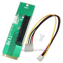 Майнинг M2 Адаптер PCI-E 4x к NGFF M. 2 с питанием Molex