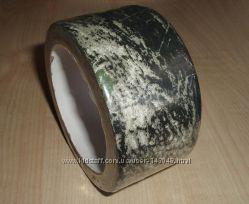 КОРА черно-белая камуфляжный маскировочный скотч 10м, камуфляжная клейк