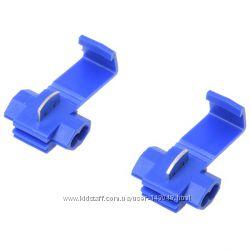 Синий скотчлок под провод 0. 75-2. 5мм&sup2 врезной клеммник