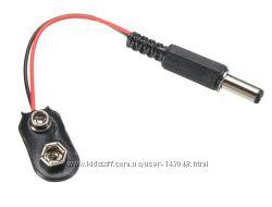 Переходник питания с батареи крона 9V на DC разъем 2. 1мм
