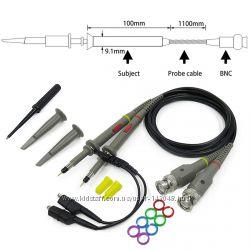 P6100 щуп 2шт пробник зонд 100МГц для осциллографа, 600В, 1x-10x