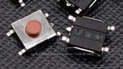 Кнопка 5pin 6x6x3. 1мм тактовая микропереключатель SMD