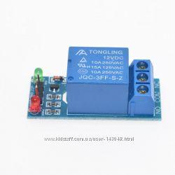 Реле 12V 1-канал модуль 12В 1-Channel Relay Module Shield for Arduino ARM P