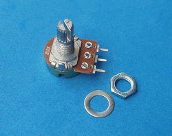 Резистор переменный WH148 B100K 100 кОм, потенциометр