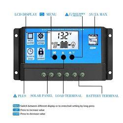 Солнечный контроллер заряда RBL-30A 24V-12V 30A с дисплеем  2USB гнездо