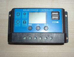 Солнечный контроллер заряда RBL-20A 24V-12V 20A с дисплеем  2USB гнездо