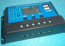 Солнечный контроллер заряда RBL-10A 24V-12V 10A с дисплеем  2USB гнездо