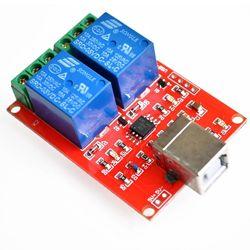 USB реле 2 порт RELAY-2 HID удаленное управление нагрузкой через компьютер