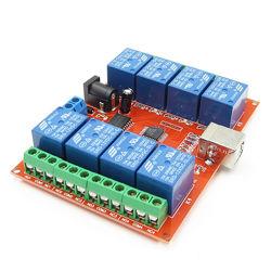 Реле 5V 4 канал USB А HID модуль юсб 5В 12В relay channel Win XP 7 8 10