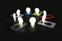 Doulex Лампочка кредитка визитка в виде пластиковой карты подсветка для бу