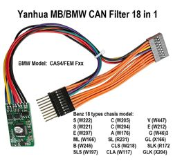 Yanhua Can Filter зеленая плата 18in1 CAN Filter MB BMW блокиратор пробег