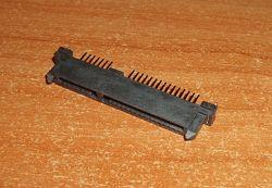 Коннектор SATA 715 Pin 22 Pin Female мама прямой  2