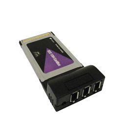 Контроллер переходник плата PCMCIA - 1394 FireWire IEEEE 3 port  внешнее