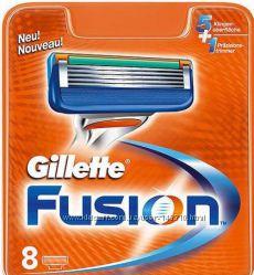 Gillette Fusion 8 штук, 4 штуки сменные кассеты для бритья
