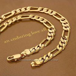 Мужская цепочка 18k Cartier Gold Filled