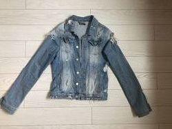 Джинсовый пиджак/куртка размер s/m