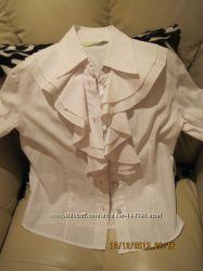 рубашка белая на девочку 6-7  лет