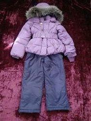 Продам финский комплект пуховик Nels плюс брюки полукомбинезон 128p