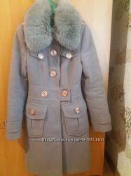 Продам утепленное кашемировое пальто