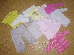 Лот 20 единиц одежды для девочки, 0-12 месяцев