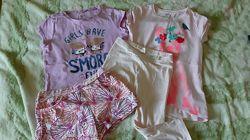 Комплекты шорты, футболки, лосины для девочки гэп, джимбори