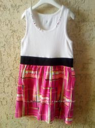 Белоснежное стильное платье для девочки в идеале. 134-140рост
