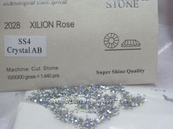 Стразы аналог Swarovski ss4 crystal AB стекло, хамелеон, 1440шт. 1, 5-1, 6мм