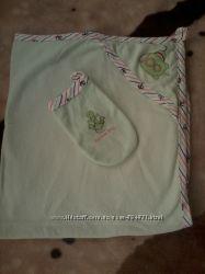 полотенце с капюшоном и  с рукавичкой
