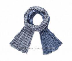 Хлопковый  двухсторонний шарф Tchibo р. 195х50