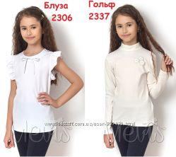 Блуза с коротким рукавом ТМ Mevis молочная 9ac4fdc1efea5