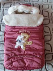 Продам детский конверт зимний на овчине от Garden baby