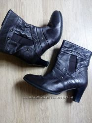 Ботинки кожаные, кожа почти новые 38р