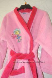 Халат махровый розовый как новый 3-4 года
