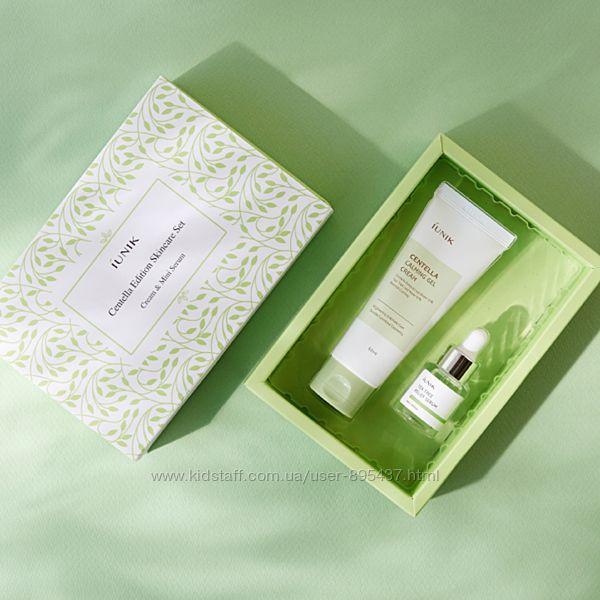 Успокаивающий набор крем и мини-сыворотка IUNIK Centella Edition Skincare