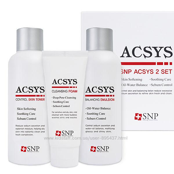 Набор для ухода за проблемной и жирной кожей SNP ACSYS 2 SET