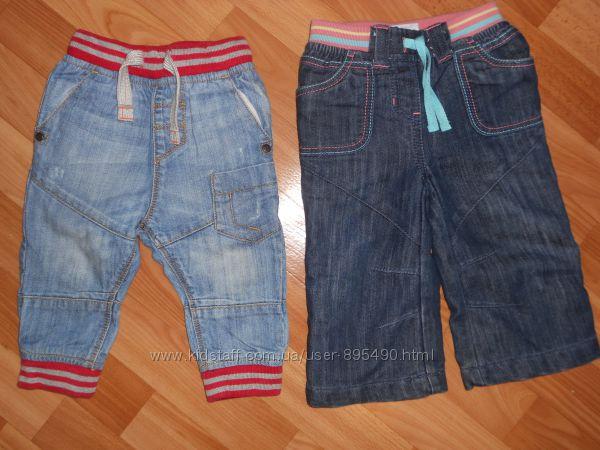 NEXT стильные джинсы на 9-12 мес.