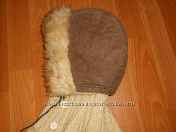 Шапка детская зимняя меховая на цигейке