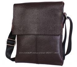 Мужская сумка кожаная для документов через плечо