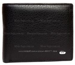 Стильное мужское портмоне с фигурными отделениями без застежки