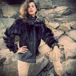 Авторская куртка с мехом чернобурки рисковая леди