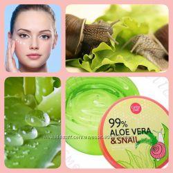 Увлажняющая сыворотка для лица и тела Aloe Vera & Snail Serum Soothing Gel