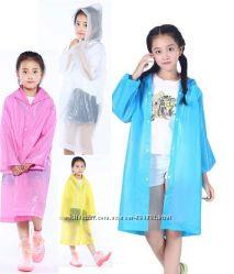 Плащ-дождевик детский EVA Raincoat. Универсальный размер 6-12 лет