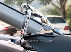Держатель для телефона в автомобиль Леопард. Золото и серебро