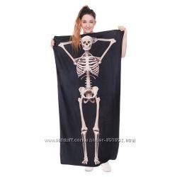 Пляжное полотенце 140х70 см. Skeleton и Watch Оut